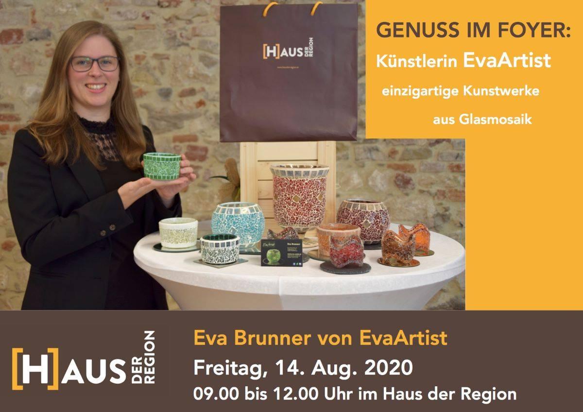 14. August 2020: Genuss im Foyer – EvaArtist im Haus der Region