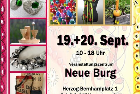 Plakat Kunst und Genuss Markt Völkermarkt in der neuen Burg